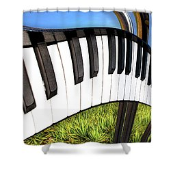 Shower Curtain featuring the photograph Piano Land by Paul Wear