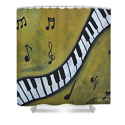 Piano Music Abstract Art By Saribelle Shower Curtain