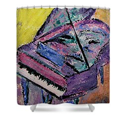 Piano Pink Shower Curtain by Anita Burgermeister