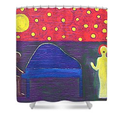 Piano Player And Singer Shower Curtain by Patrick J Murphy
