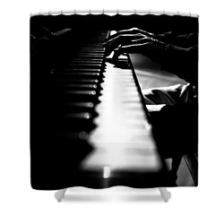 Piano Player Shower Curtain