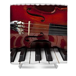 Piano Reflections Shower Curtain by Garry Gay