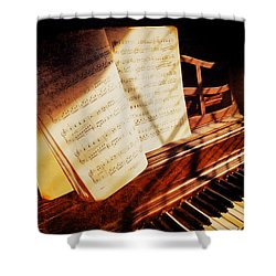 Piano Sheet Music Shower Curtain