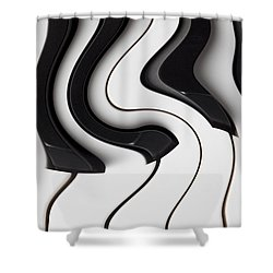 Piano Surrealism  Shower Curtain by Garry Gay