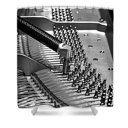 Piano Tuning Bw Shower Curtain