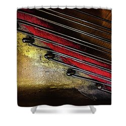 Piano Wire II Shower Curtain by Jae Mishra