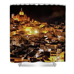 Piazza Armerina At Night Shower Curtain