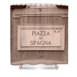 Piazza Di Spagna Shower Curtain