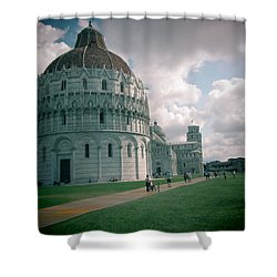 Piazza In Piza Shower Curtain