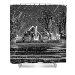Piazza Solferino In Winter-1 Shower Curtain