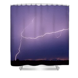 Picacho Aerial-signed Shower Curtain