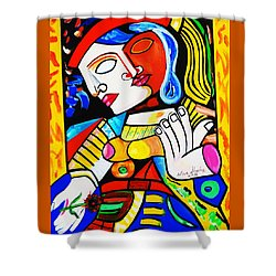 Picasso By Nora Turkish Man Shower Curtain by Nora Shepley