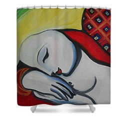 Picasso's Resting Angels Shower Curtain