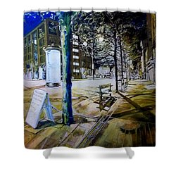 Piccadilly Gardens, Manchester Shower Curtain