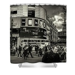 Shower Curtain featuring the photograph Piccadilly  by Stewart Marsden