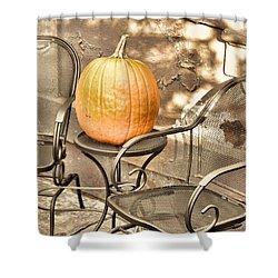 Pick A Pumpkin Shower Curtain by JAMART Photography