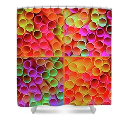 Shower Curtain featuring the photograph Pick A Straw By Kaye Menner by Kaye Menner
