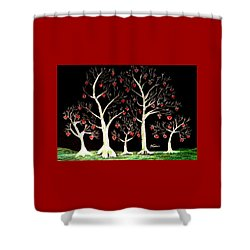 The Valentine Forest Shower Curtain