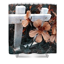 Picket Fence Blooms Shower Curtain
