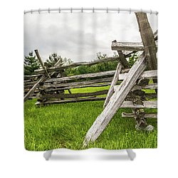 Picket Fence Shower Curtain