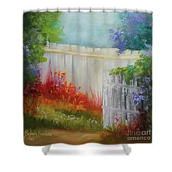 Picket Fences Shower Curtain