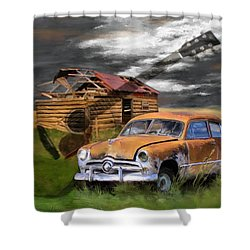 Pickin Out Yesterday Shower Curtain by Susan Kinney