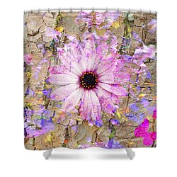 Pickin Wildflowers Shower Curtain by Amanda Eberly-Kudamik