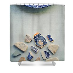 Picking Up The Broken Pieces Shower Curtain