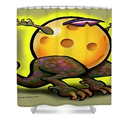 Pickleball Beast Shower Curtain by Kevin Middleton