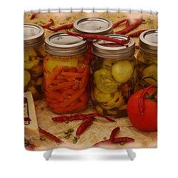 Pickled Still Life Shower Curtain