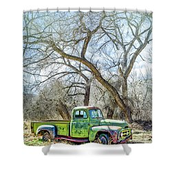 Pickup Under A Tree Shower Curtain