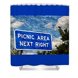 Picnic Area Shower Curtain
