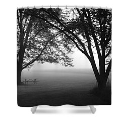 Picnic In The Fog Shower Curtain by Lauri Novak