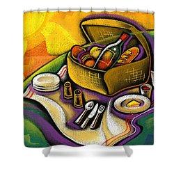 Picnic Shower Curtain by Leon Zernitsky