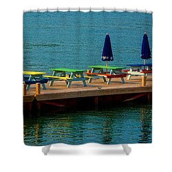 Picnic On The Water Shower Curtain