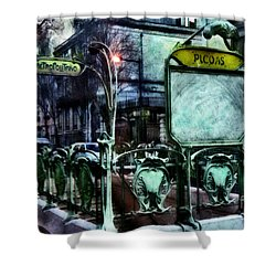 Shower Curtain featuring the photograph Picoas by Dariusz Gudowicz