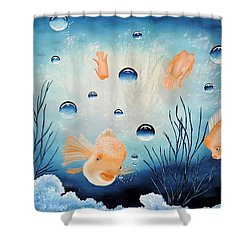 Picses Shower Curtain by Dianna Lewis