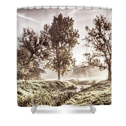 Pictorial Autumn Landscape Artistic Picture Shower Curtain by Odon Czintos