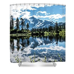 Picture Lake Shower Curtain