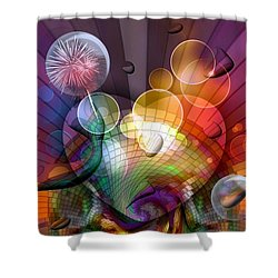 Shower Curtain featuring the digital art Picture Of Dreams By Nico Bielow by Nico Bielow