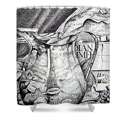 Picture Of Pitcher Shower Curtain