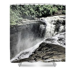Picture Of Waterfalls At Letchworth Shower Curtain