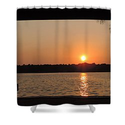 Shower Curtain featuring the photograph Picture Perfect Sunset by Teresa Schomig
