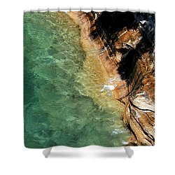 Shower Curtain featuring the photograph Pictured Rocks by Kenneth Campbell