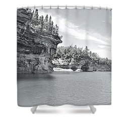 Pictured Rocks Shoreline National Park Shower Curtain by Michael Peychich