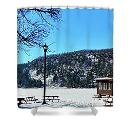 Picturesque Devil's Lake Shower Curtain by Ricky L Jones