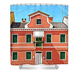 Picturesque House In Burano Shower Curtain