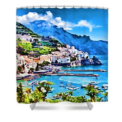 Picturesque Italy Series - Amalfi Shower Curtain