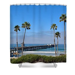 Pier And Palms Shower Curtain