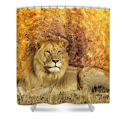 Pieces Of A Lion Shower Curtain